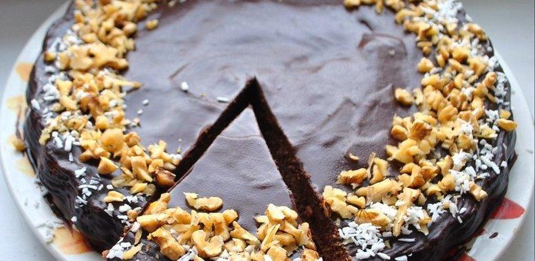 Рецепт шоколадно орехового торта с пошаговое