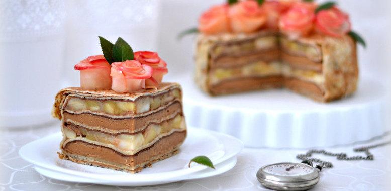 Блинный торт с фруктами рецепт пошагово в домашних условиях