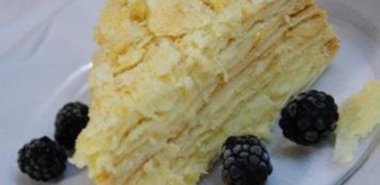 Торт наполеон с мороженым рецепт пошагово