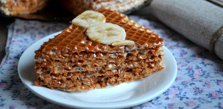 Торт из вафель с пошаговым
