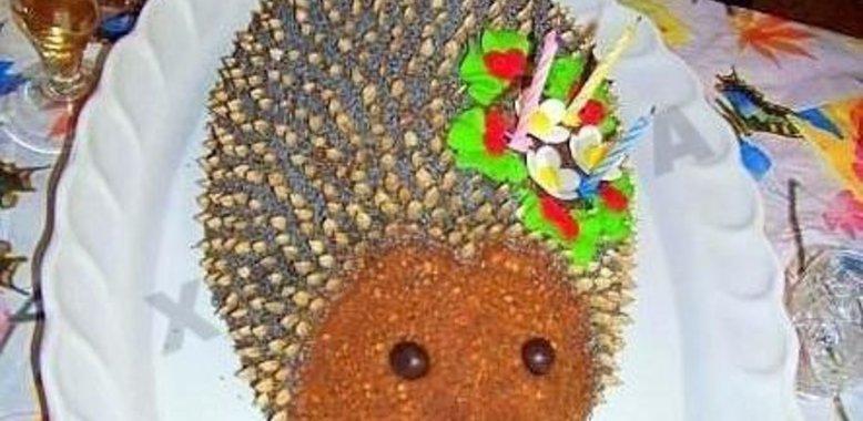 Торт ежик без выпечки пошаговый рецепт с