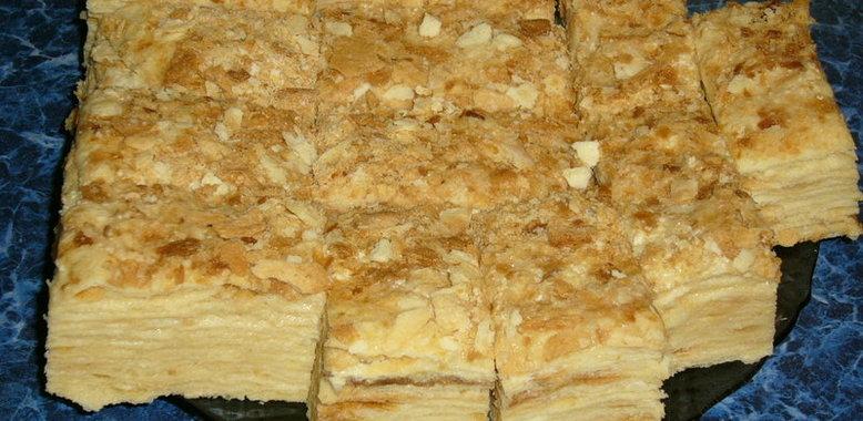 Рецепт торта наполеон слоеное тесто в домашних условиях с фото пошагово