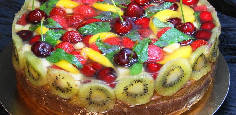 Торт фруктовый с желе рецепт пошагово в домашних условиях