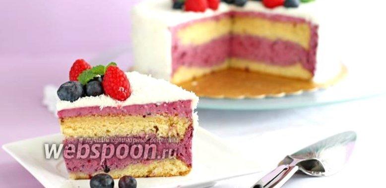 Муссовый клубничный торт рецепт с пошагово
