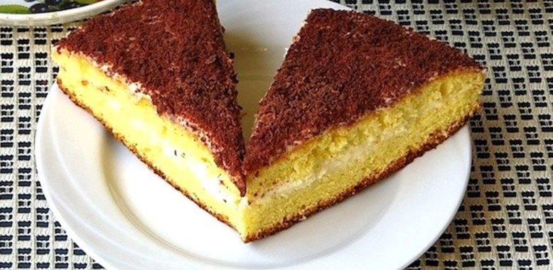 Бисквит с творогом рецепт с фото пошагово в духовке
