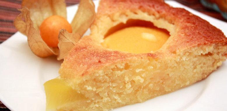 клетки рецепт пирога с консервированными персиками каких