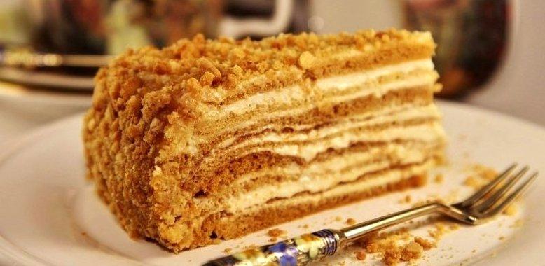 Быстрый торт на сметане рецепт пошагово 49