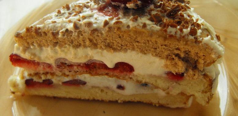 Пирог со свежей вишней с фото пошагово