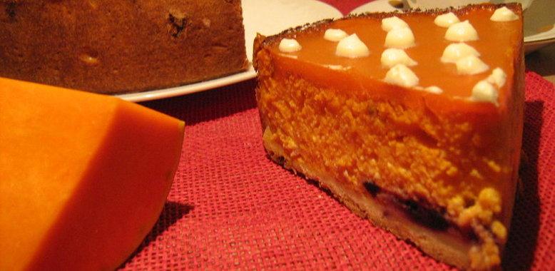 Тыквенный торт с творогом