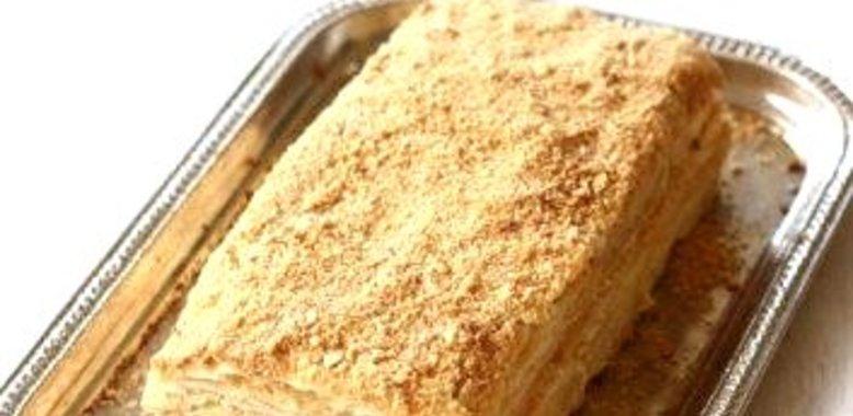 Рецепт слоеного торта наполеон пошаговый рецепт с