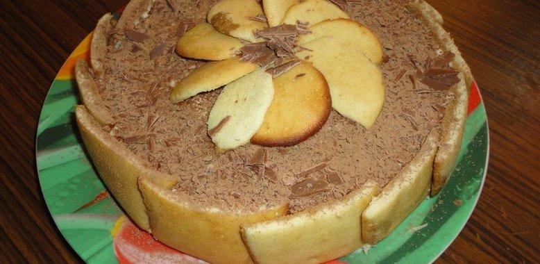 Торт с маскарпоне и савоярди рецепт