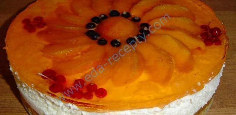 рецепт торт без выпечки из йогурта фото