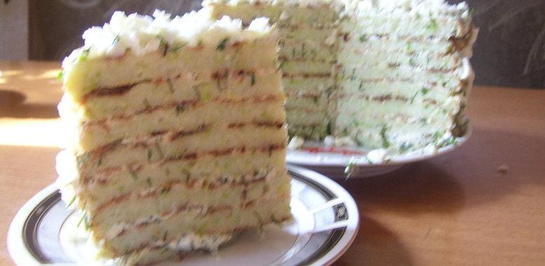 Кабачковый торт рецепт с пошаговый