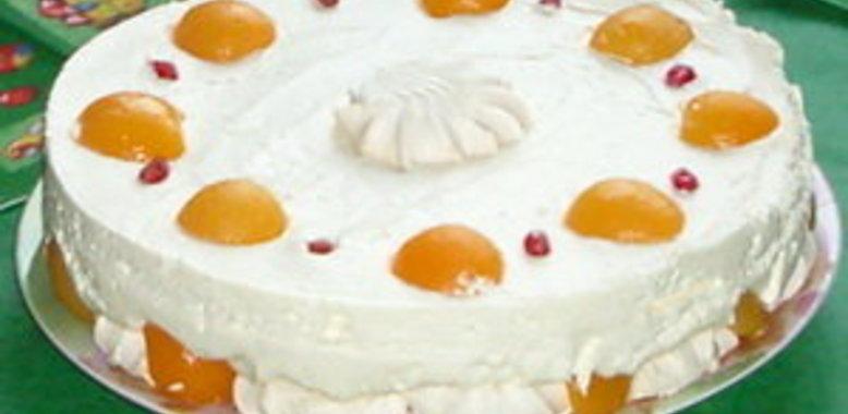Торт зефир со сливками