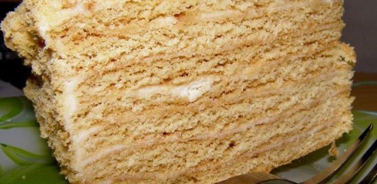 Рецепт медового торта в домашних условиях с фото простые 797