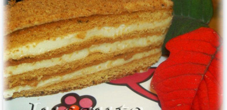 Легкий торт медовик рецепт
