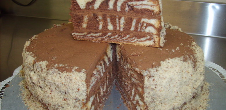 Рецепты торты зебра с кремом