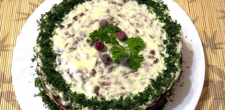 Классический печеночный торт рецепт пошагово