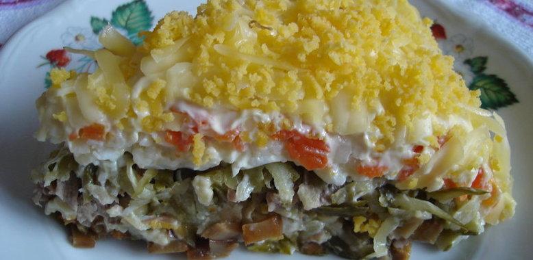 Праздничные салаты рецепт с с пошаговым приготовлением и