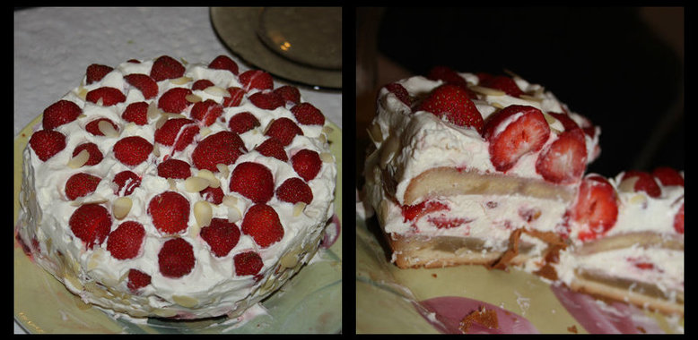 Торт со сливками рецепт с пошагово