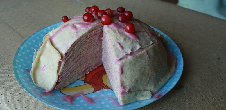 Блинный торт с кремом с пошаговым фото