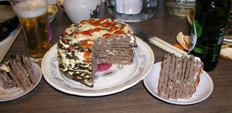 Печеночный торт простой рецепт пошагово