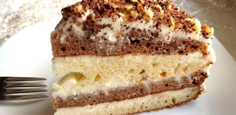 Быстрый сметанный торт рецепт с пошагово