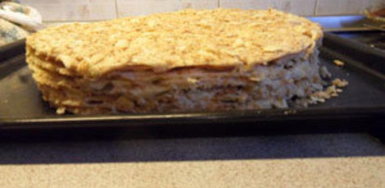 Торт наполеон в домашних условиях на маргарине