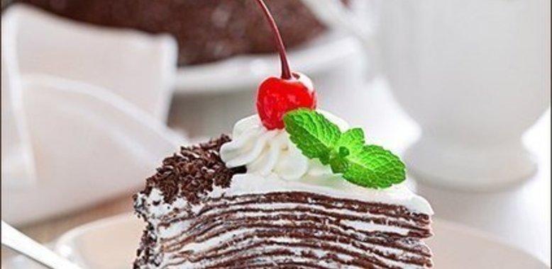 Блинный-шоколадный торт рецепт с фото
