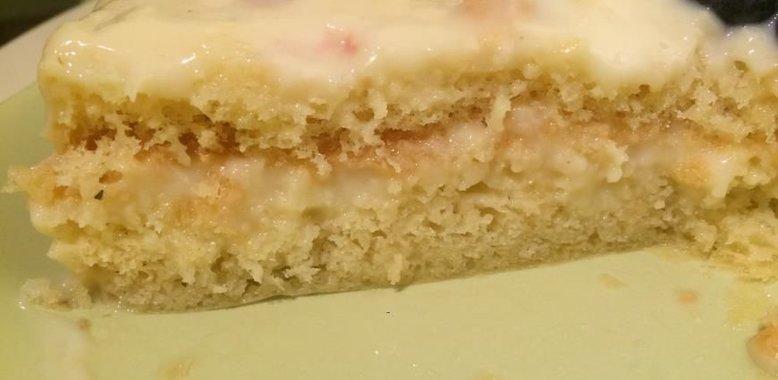 Бисквитный торт с заварным кремом рецепт