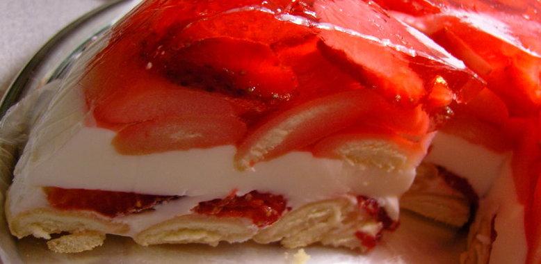 Как приготовить желейный торт со сметаной фото
