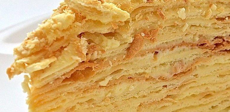 Рецепты тортов наполеон с заварным кремом пошаговый рецепт с