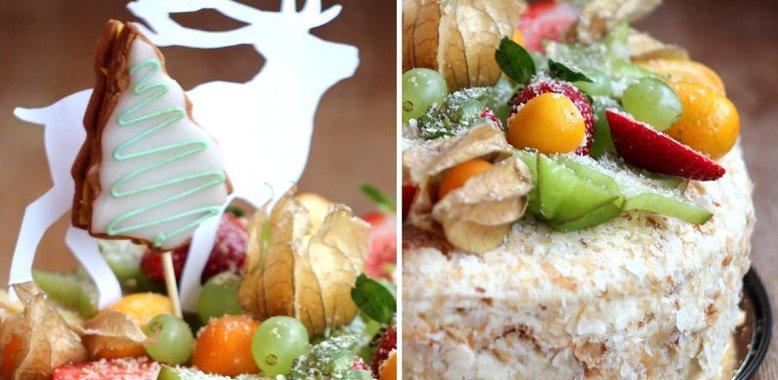Торт фруктами пошаговый рецепт фото