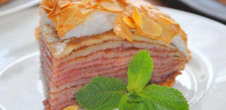 Блинный торт с клубникой рецепт с пошагово в домашних