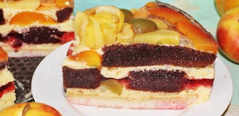 Бисквит рецепт с фото пошагово с фруктами