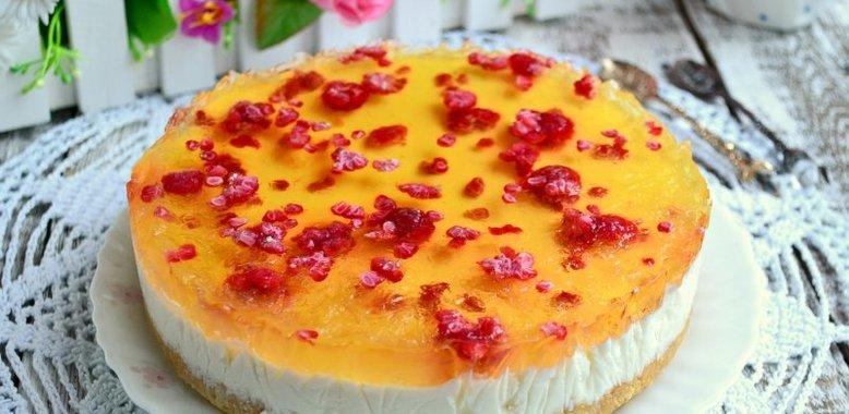 желейно-творожный тортс пошаговым фото рецептом