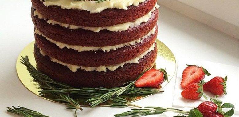 Бисквитный торт с кремом дома