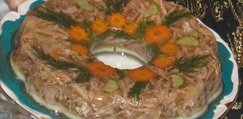 Заливное из свинины с желатином рецепт с пошагово