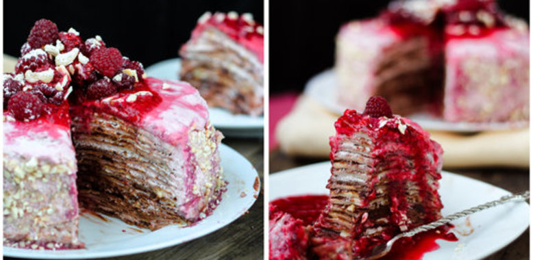 Рецепт малиново шоколадного торта