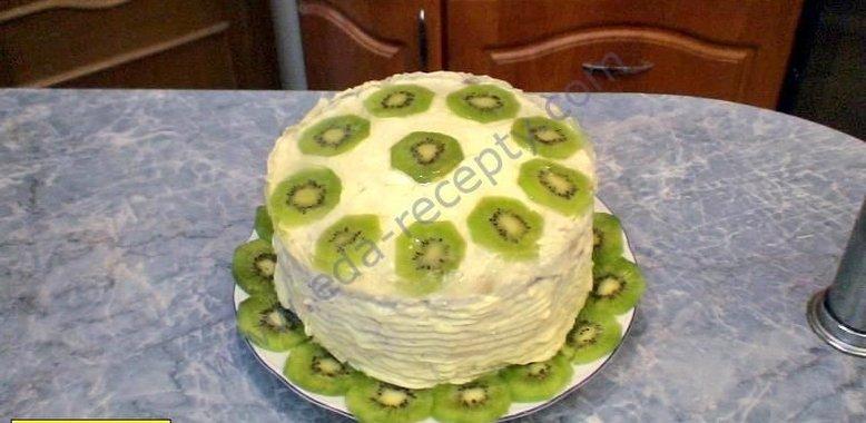 Как сделать торт на бисквитных коржах