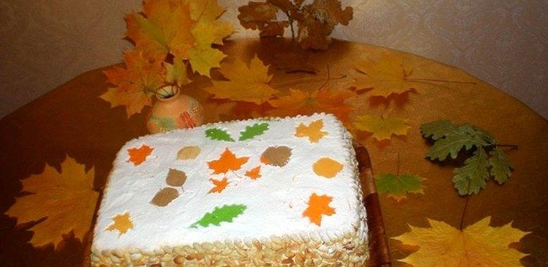 Осенние листья торт рецепт