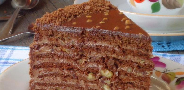 Шоколадный торт с пошаговым приготовлением и